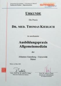 Ausbildungspraxis Allgemeinmedizin